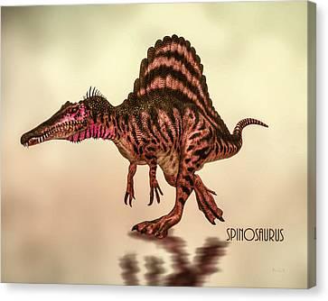 Spinosaurus Dinosaur Canvas Print by Bob Orsillo