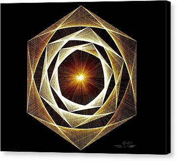Spiral Scalar Canvas Print by Jason Padgett