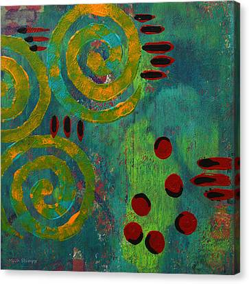 Spiral Series - Adamant Canvas Print by Moon Stumpp