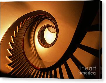 Spiral Staircase Canvas Print by Bruce Roberts