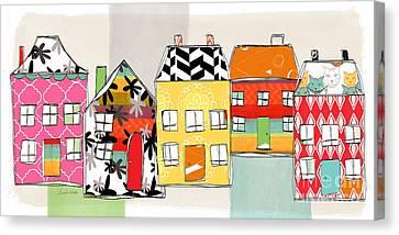 Spirit House Row Canvas Print by Linda Woods