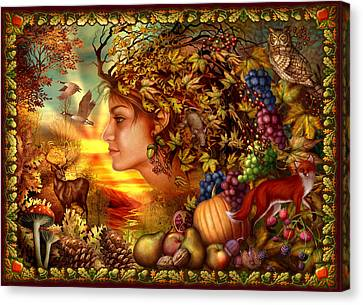 Spirit Of Autumn Canvas Print by Ciro Marchetti