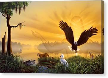 Spirit Of The Everglades Canvas Print by Jerry LoFaro