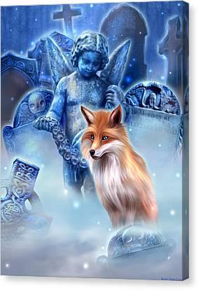 Spirit Of The Fox Canvas Print by Kerri Ann Crau