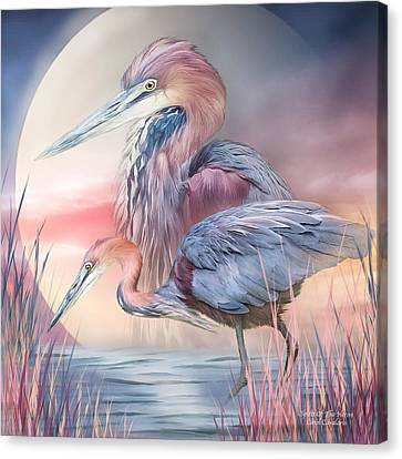 Spirit Of The Heron Canvas Print by Carol Cavalaris