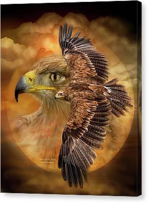 Spirit Of The Wind Canvas Print by Carol Cavalaris