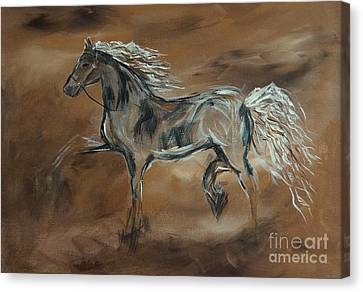 Spirited Canvas Print by Leslie Allen