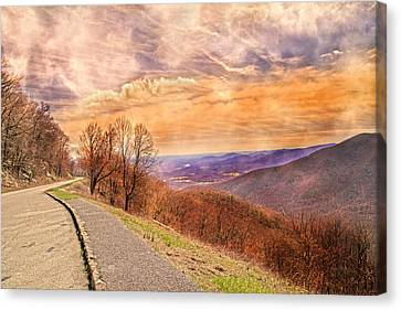 Spiritual Sunset Blue Ridge Parkway Canvas Print by Betsy Knapp