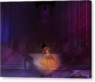 Spiritual Vortex Canvas Print by Kylie Sabra
