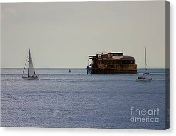 Spitbank Fort Martello Tower Canvas Print by Terri Waters