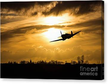 Spitfire Lines  Canvas Print by J Biggadike