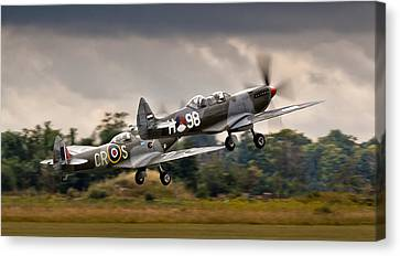 Spitfire Parade Canvas Print by Alexis Birkill