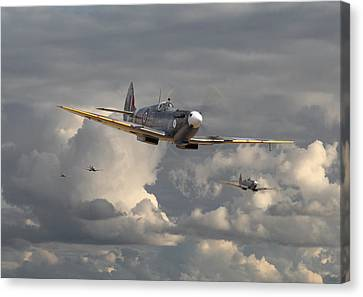 Spitfire - Strike Force Canvas Print by Pat Speirs