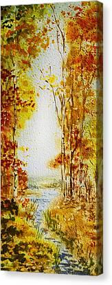 Splash Of Fall Canvas Print by Irina Sztukowski