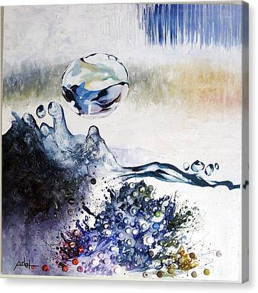 Splashing Through Waves Canvas Print by Adel Ahn
