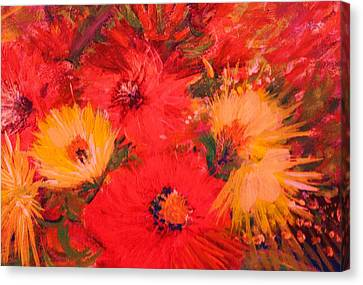 Splashy Floral IIi Canvas Print by Anne-Elizabeth Whiteway