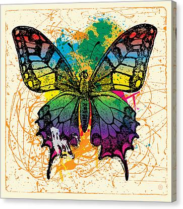 Splatter Butterfly Canvas Print by Gary Grayson