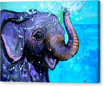 Splish Splash Canvas Print by Debi Starr