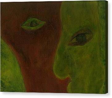 Split Decisions Canvas Print by Abram Freitas