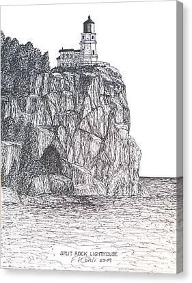 Split Rock Light Canvas Print by Frederic Kohli