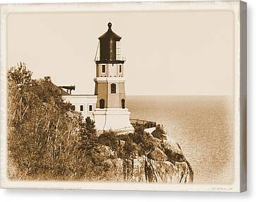 Split Rock Lighthouse Canvas Print by Kristin Elmquist