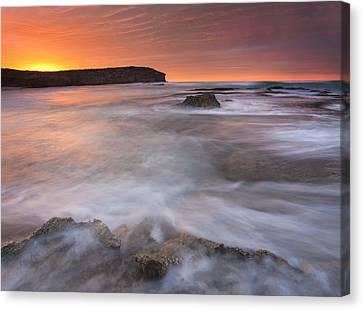 Splitting The Tides Canvas Print by Mike  Dawson