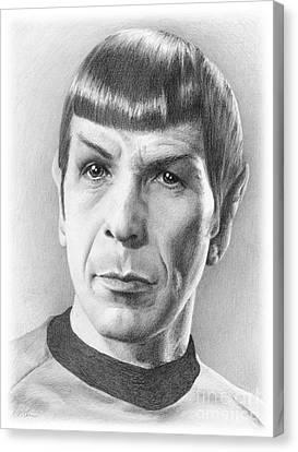 Spock - Fascinating Canvas Print by Liz Molnar