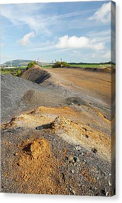 Spoil Left By Open Cast Coal Mining Canvas Print by Ashley Cooper