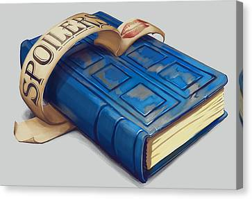 Spoilers- River Song's Tardis Journal Canvas Print by Dorianne Dutrieux
