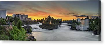 Spokane Sunrise Canvas Print by Michael Gass