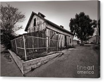 Spooky Chino Barn - 01 Canvas Print by Gregory Dyer