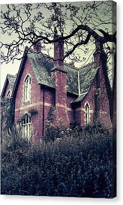 Spooky House Canvas Print by Joana Kruse