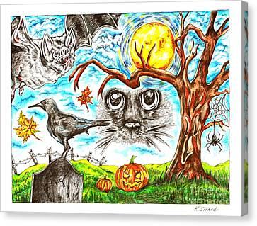 Spooky Canvas Print by Karen Sirard