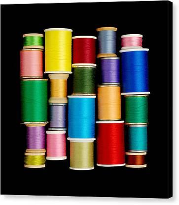 Spools Of Thread Canvas Print by Jim Hughes