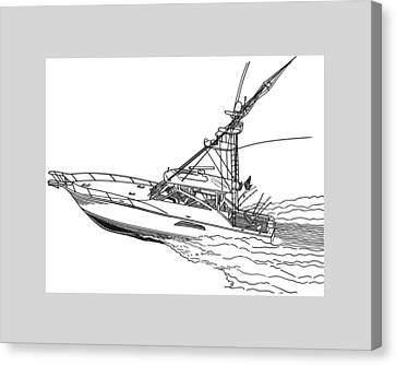 Sportfishing Yacht Canvas Print by Jack Pumphrey