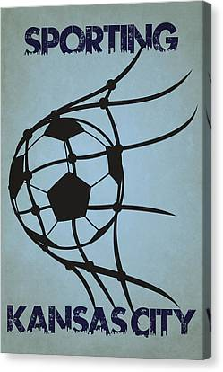 Sporting Kansas City Goal Canvas Print by Joe Hamilton