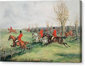 Sporting Scene, 19th Century Canvas Print by Henry Thomas Alken