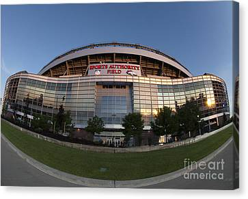 Sports Authority Field At Mile High Canvas Print by Juli Scalzi