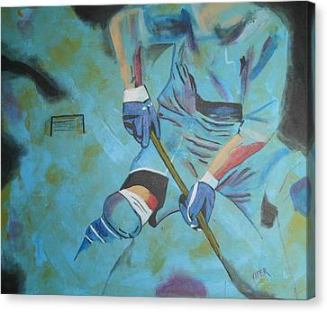 Sports Hockey-2 Canvas Print by Vitor Fernandes VIFER