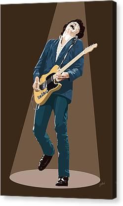Spotlight On Bruce Springsteen Canvas Print by Jarod
