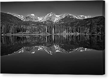 Sprague Lake Reflections Canvas Print by Brian Kerls
