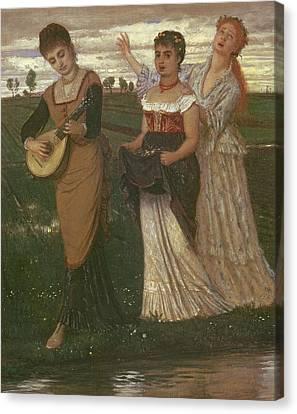 Spring, 1876 Canvas Print by Arnold Bocklin