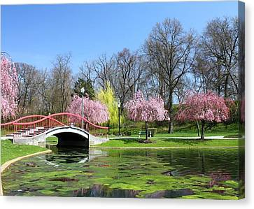 Spring At Italian Lake Canvas Print by Lori Deiter