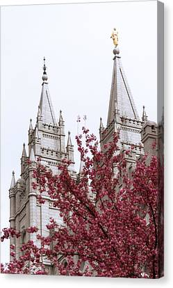 Spring At The Temple Canvas Print by Chad Dutson