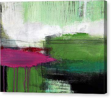 Spring Became Summer- Abstract Painting  Canvas Print by Linda Woods