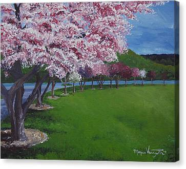 Spring Blossoms Canvas Print by Monica Veraguth