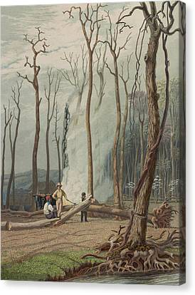 Spring Circa 1841 Canvas Print by Aged Pixel