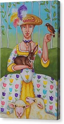Spring Colonial Canvas Print by Beth Clark-McDonal