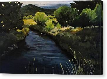 Spring Creek Canvas Print by Suzanne Tynes