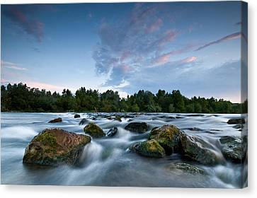 Spring Evening Canvas Print by Davorin Mance